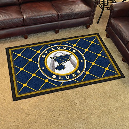 St Louis Blues NHL Sports Team Logo Area Rug Indoor Outdoor Tailgater Party Decor Floor Carpet 4'x6'