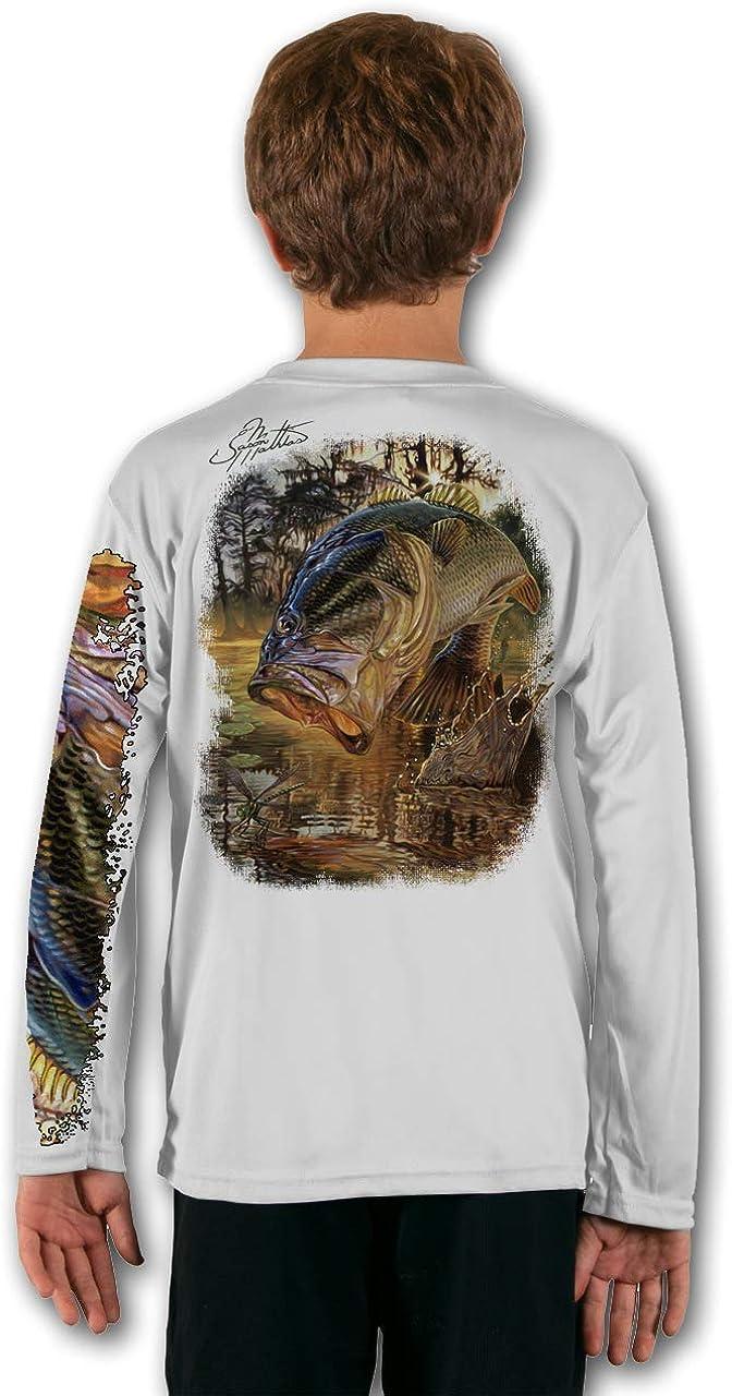 Jason Mathias Bass Youth LS High Performance Fishing Shirt