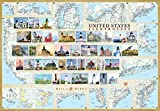 img - for United States Lighthouses Illustrated Map & Guide Laminated Poster book / textbook / text book