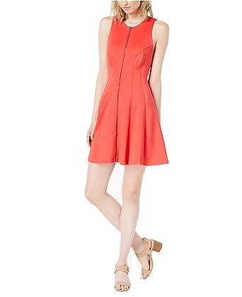 74fabca4f8e Bar III Women s Printed Zip-Front Dress at Amazon Women s Clothing store