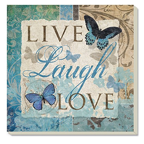 Counter Live Laugh Love Butterfly Absorbent Coasters