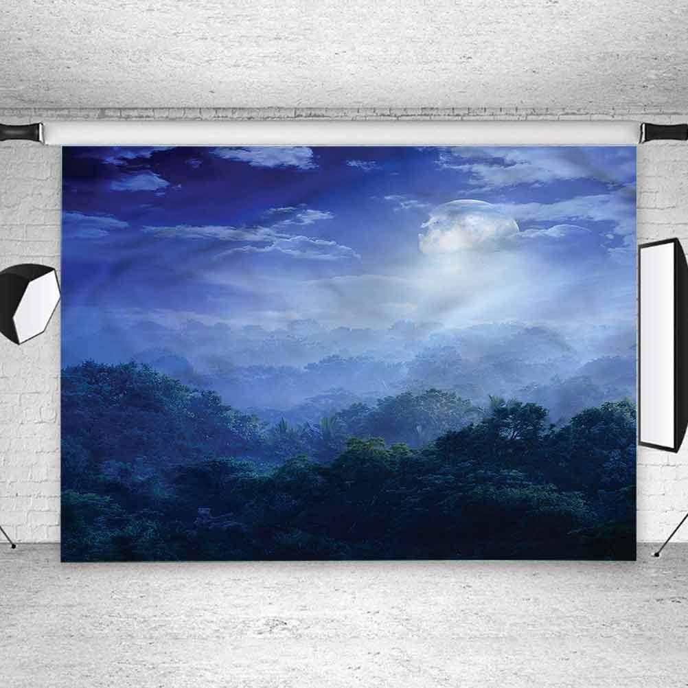 5x5FT Vinyl Photo Backdrops,Fantasy,Sri Lanka Rainforest Background Newborn Birthday Party Banner Photo Shoot Booth