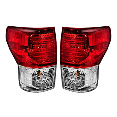 Epic Lighting OE Style Replacement Rear Brake Tail Lights Assemblies for 2010-2013 Tundra [ TO2800183 TO2801183 815600C090 815500C090 ] Left Driver & Right Passenger Sides Pair: Automotive