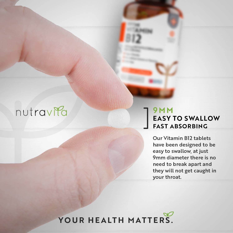 Vitamina B12 1000 mcg Comprimidos veganos de Methylcobalamin 365 | Hecho en el Reino Unido por Nutravita.: Amazon.es: Salud y cuidado personal