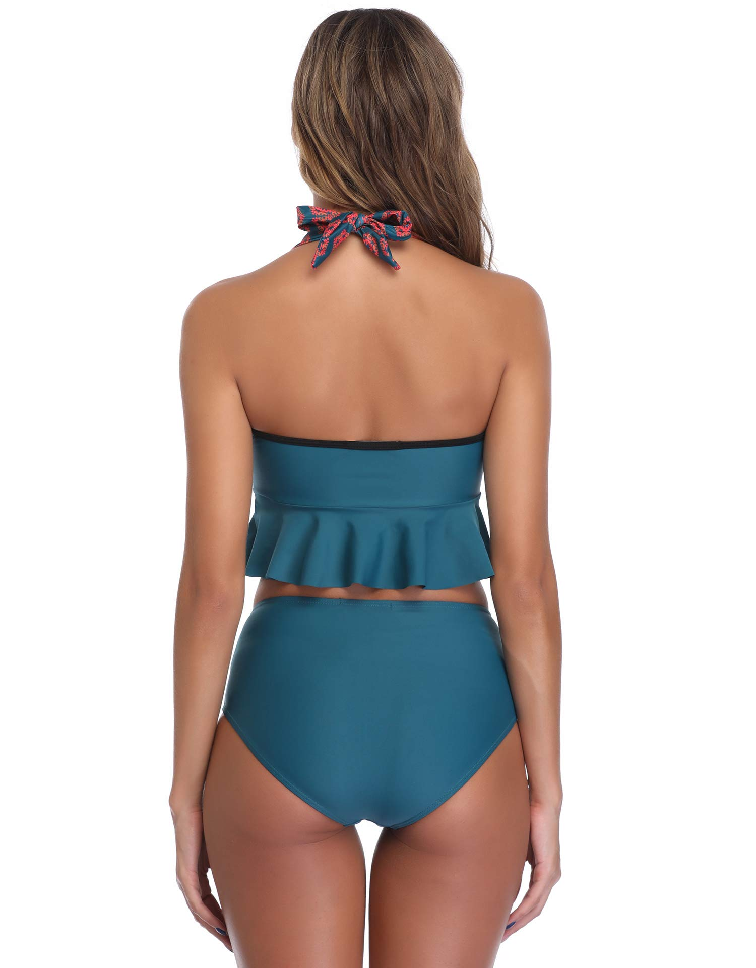 MarinaVida Women's Swimsuits Two Piece Green