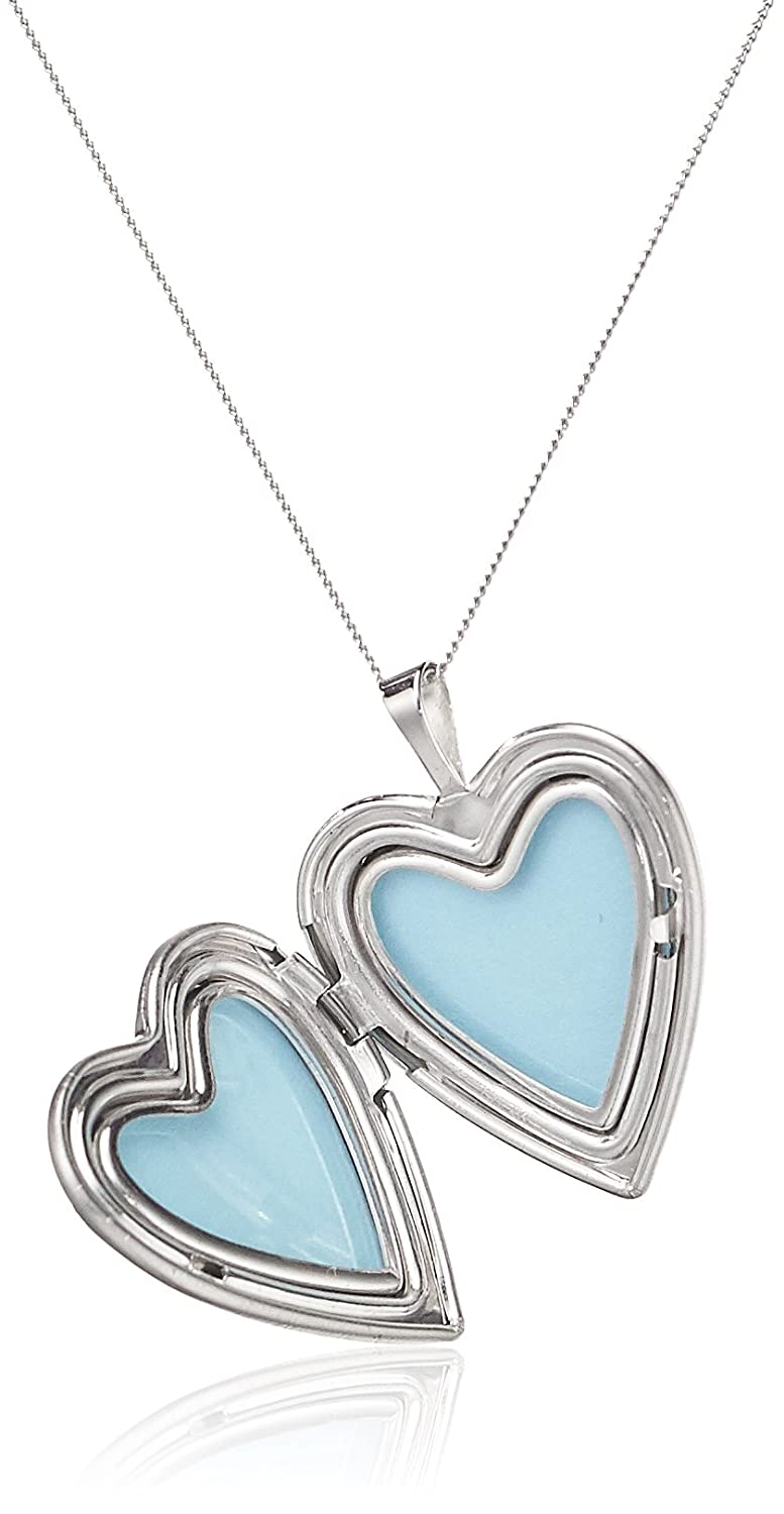 locket shaped heart pictures com jewelry necklace dp hold silver sterling that amazon lockets momento butterfly