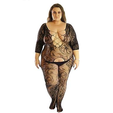 70e8946489 Women Sexy Lingerie Fishnet Sheer Open Crotch Body Stocking Bodysuits  Tights Intimates Nightwear Girls Lace Underwear Sleepwears  Amazon.co.uk   Clothing