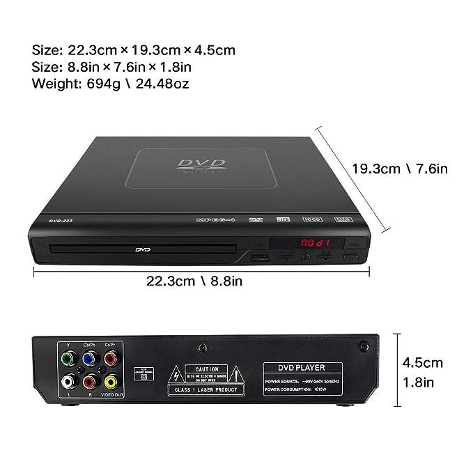 Amazon.com: Reproductor de DVD para TV – Reproductor ...
