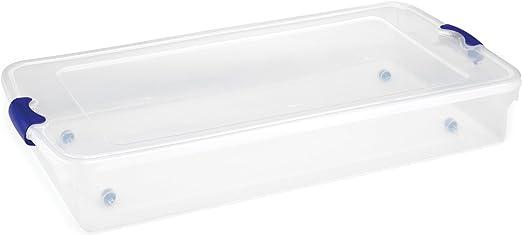 Amazon.com: Homz Plastic Underbed Storage, Stackable Storage Bins ...