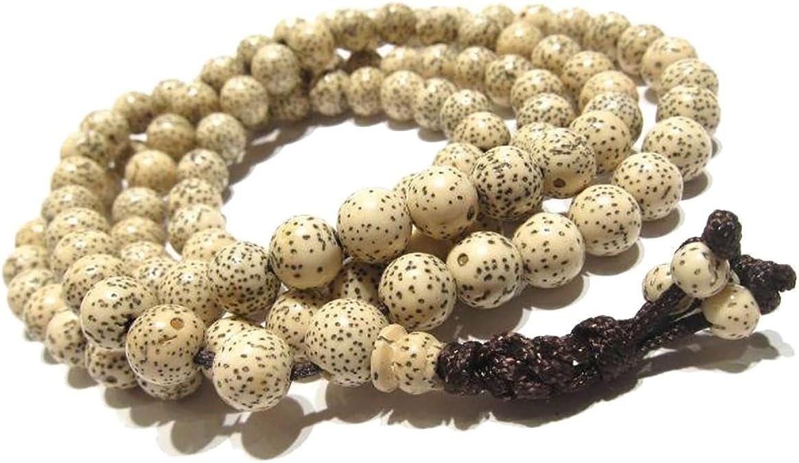 10mm LARGE BODHI SEED NUT MALA MANTRA PRAYER BEADS Buddhist monk necklace N39