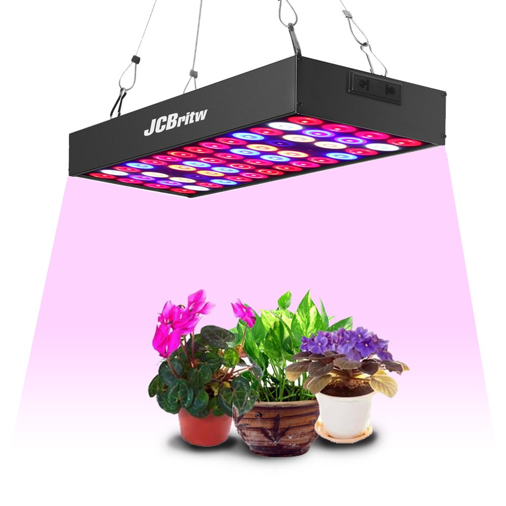 JCBritw LED Grow Light Panel Full Spectrum 30W Pro Plant Growing Lamps Aluminum Made with Daisy Chain for Indoor Plants Hydroponic Greenhouse Veg and Flower