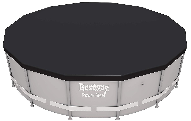 Bestway 58248-19 Pro Max Power Steel Deluxe Series B/âche de Protection en PVC Gris /Ø 427 cm