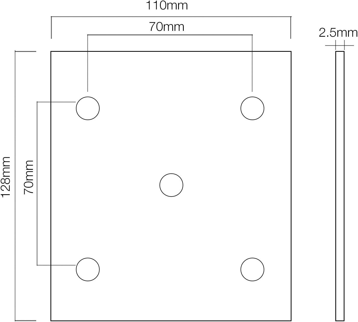 Maclean MCTV 551/MCTV Accessoires de montage pour antenne satellite Support de balcon//mural 38/cm