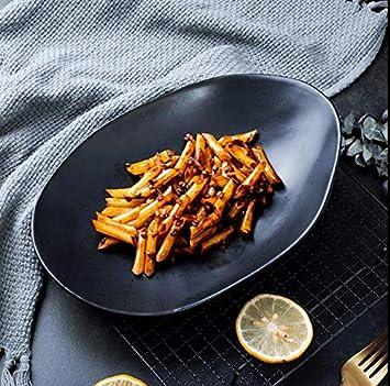 ZZSIccc Creative Japonés Placa Negra Con Perfil Irregular Pan Sopa Personalizada Bandeja De Verduras Inicio Sushi
