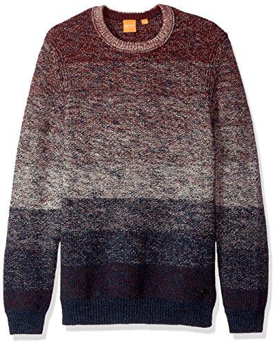 Boss Cotton Sweater - BOSS Orange Men's Arduage Crew Neck Jumper, Dark Blue, XL