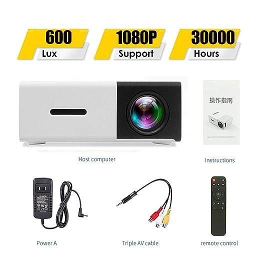 SONGYANG Proyector Proyector portátil Mini proyector ...