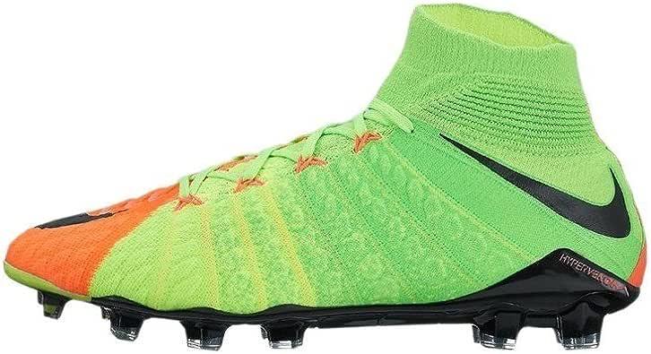 Nike Men's Hypervenom Phantom III Dynamic Fit FG Electric Green/Black/Hyper Orange Soccer Shoes