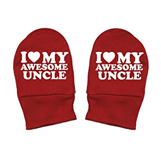 I Love Red Heart Mashed Clothing Unisex-Baby Thick Premium My Awesome Guncle Thick /& Soft Baby Mittens Fun /& Trendy
