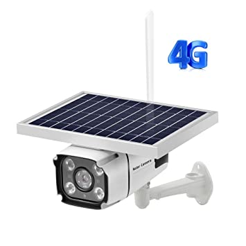 Cámara De Seguridad Solar Inalámbrica para Exteriores, 4G Tarjeta ...