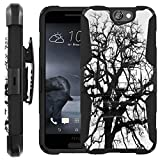 Black Tree [COMBAT SERIES] Rugged Holster Dual Layer Hybrid Hard Soft rubber Protective Case [Non-Slip] Cover drops and impacts Resilient for HTC One A9