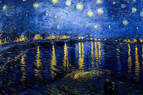 Vincent van Gogh Starry Night Over Rhone Art Print Poster