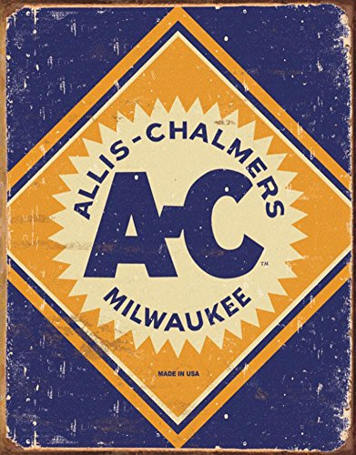 Allis Chalmers Logo Tin Sign , 12x16