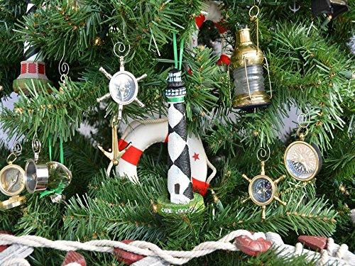Hampton Nautical Cape Lookout Lighthouse Christmas Tree Ornament