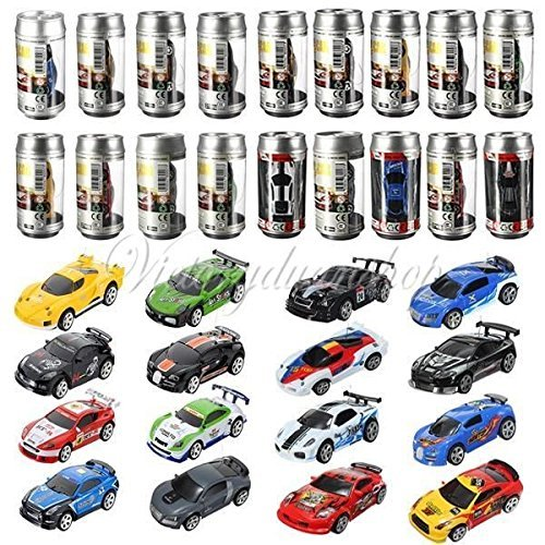 (Random Color) Colors Coke Can Mini Speed RC Radio Remote Control Micro Racing Car Boy Toy Gift (Radio Coke)