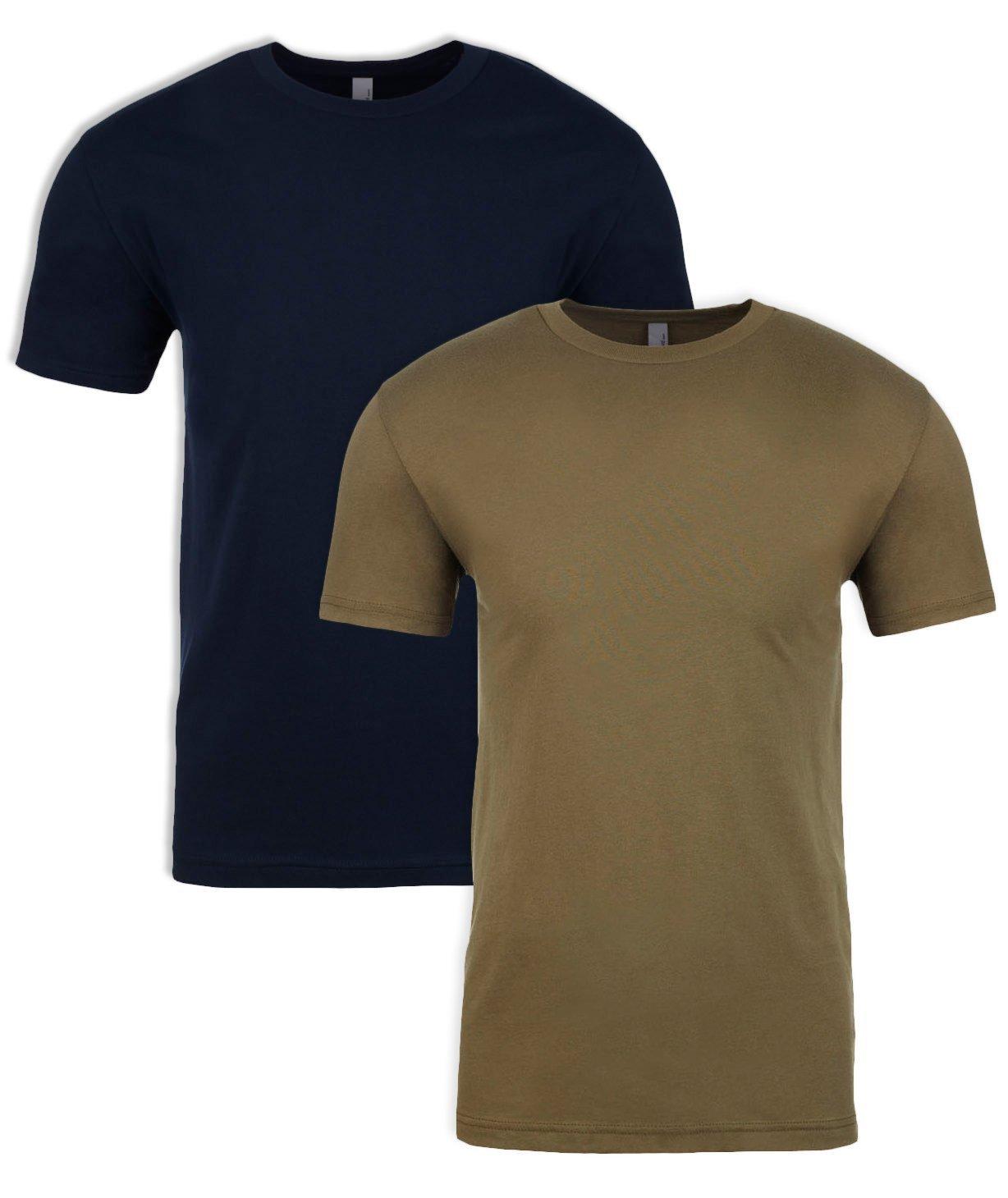 Next Level N6210 T-Shirt, Midnight + Military Green (2 Pack), Medium