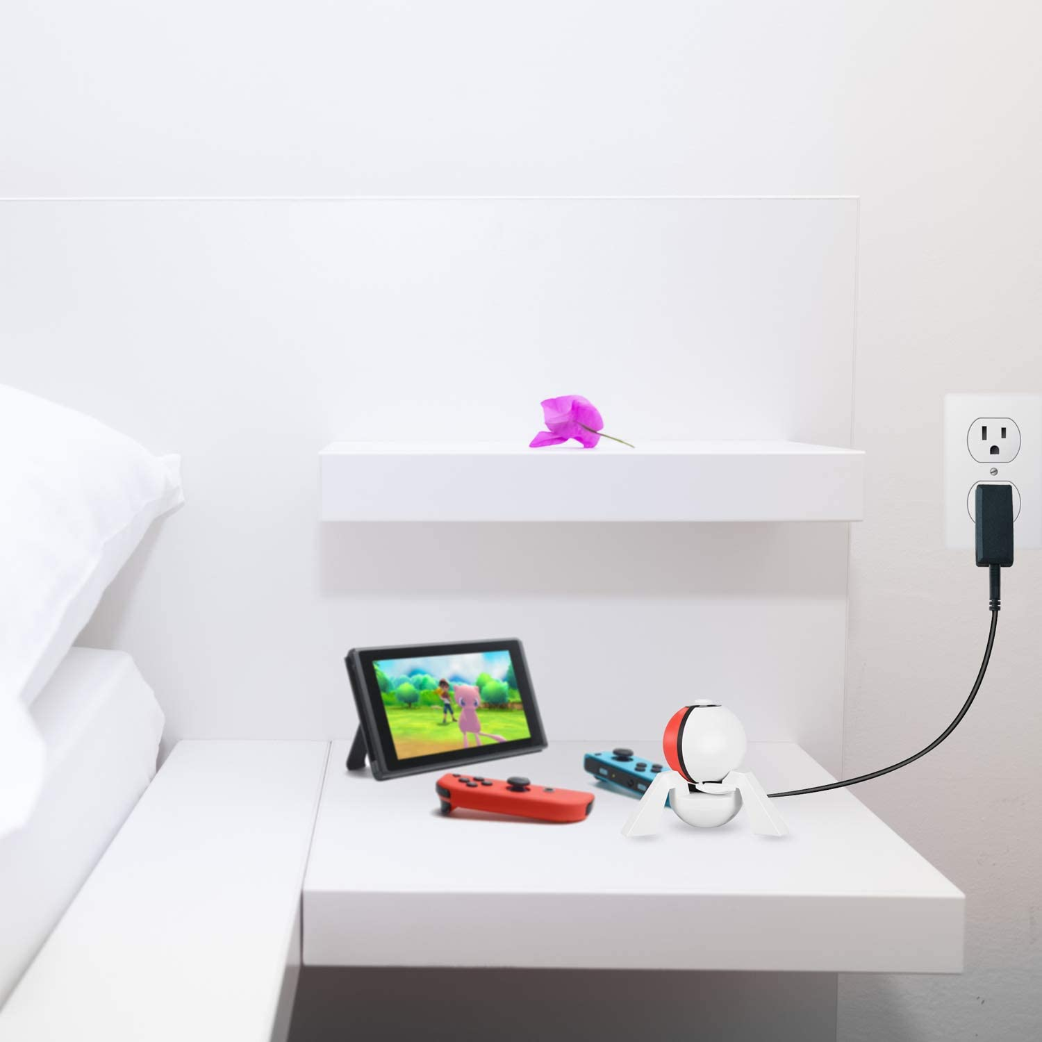 Charger Stand for Poke Ball Plus NesBull Charging Dock with Type C Cable for Pokeball Plus