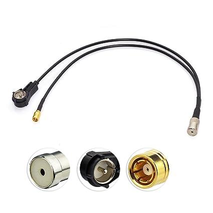 Antenne SMB Autoradio Antennensplitter Fakra Z Stecker auf Fakra Z Buchse Pigtail Kabel RG174 12inch 30cm f/ür Digitalradio Empfang Blaupunkt Beat TechniSat MEHRWEG Eightwood DAB DAB