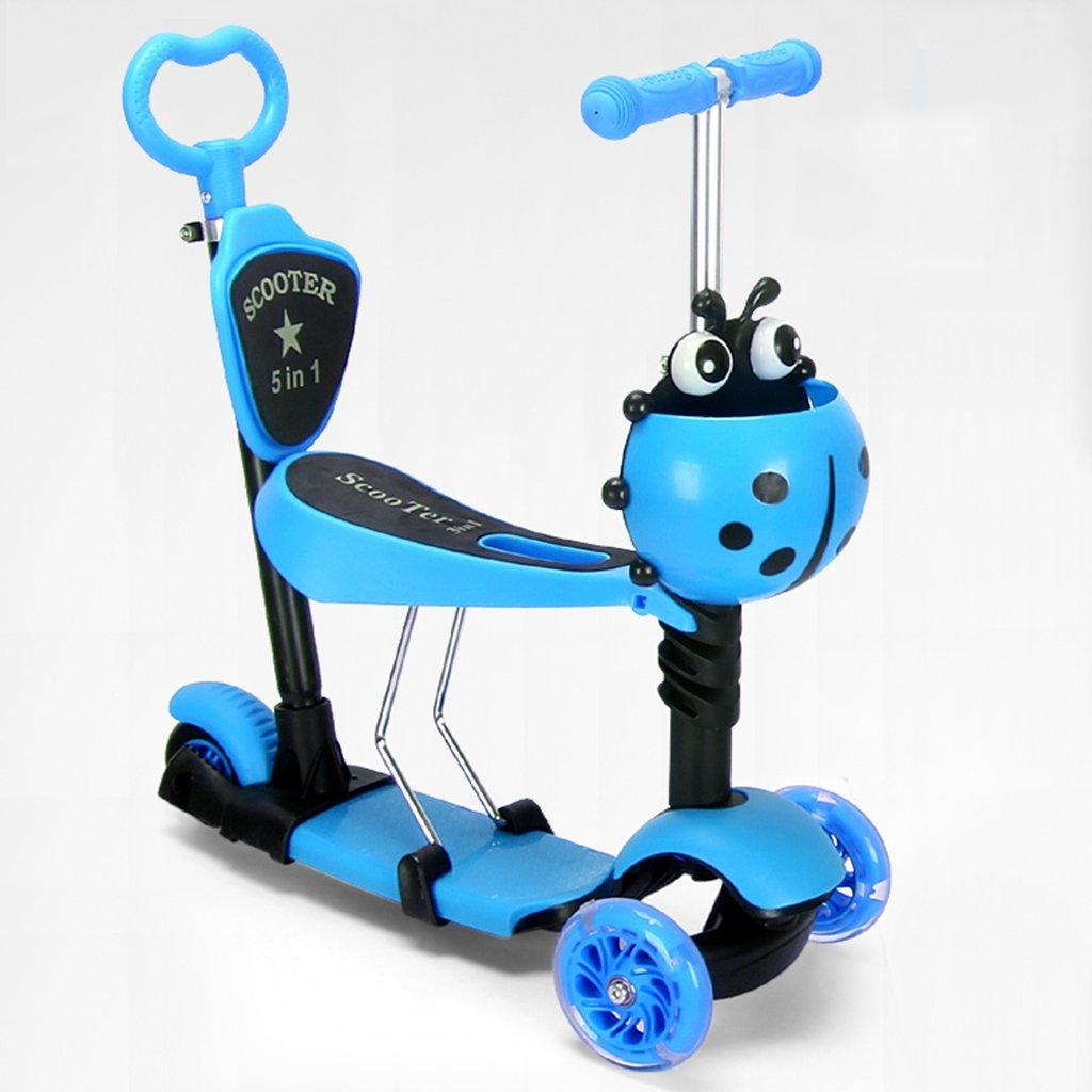 最高の品質の 子供のスクーター多機能漫画ウォーカー折りたたみ玩具ヨーヨー車のフラッシュホイール3-12歳の手のプッシュタイプ Blue B07FYKX4TT B07FYKX4TT Blue Blue Blue, 岩手のせんべいやさん:d6199e77 --- a0267596.xsph.ru