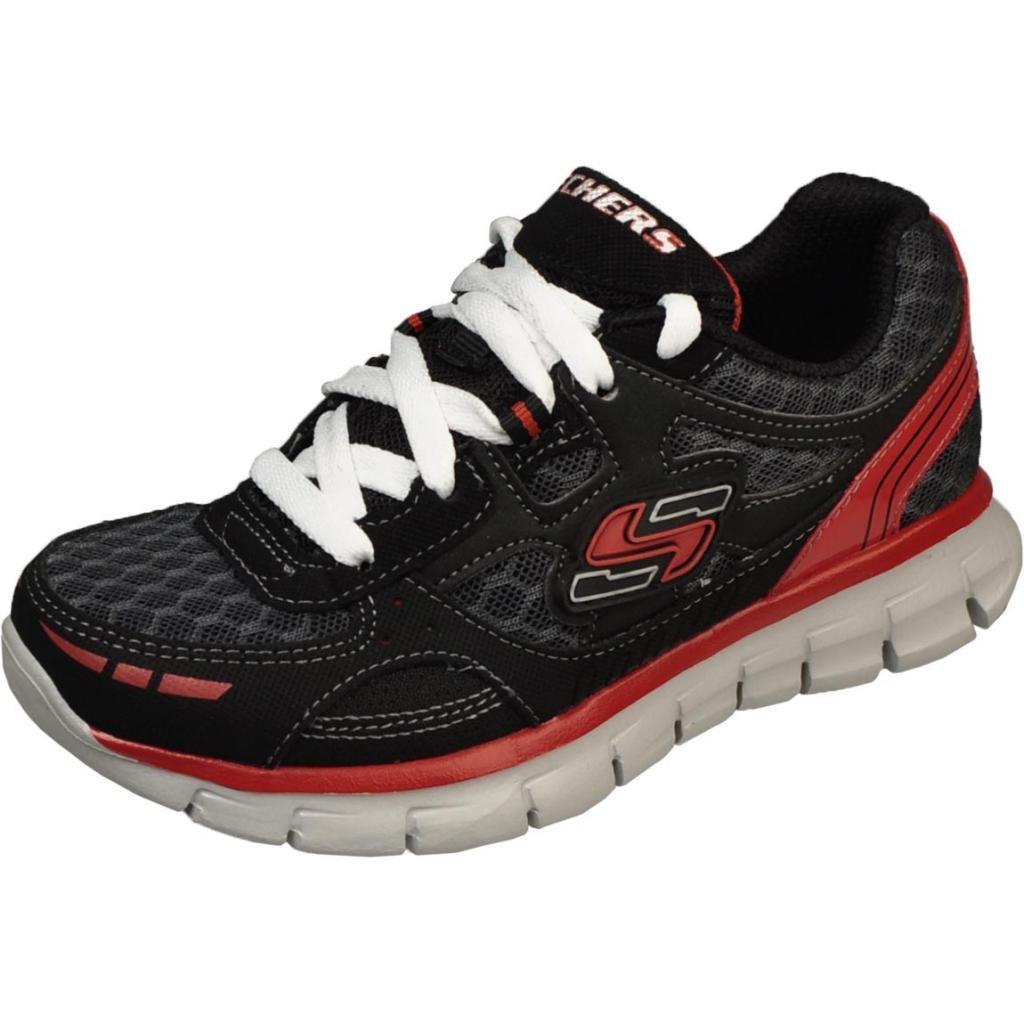 Skechers Boys Youth Synergy - Power Pulse Black/Red Running Shoes 95497LBKRD