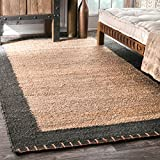 nuLOOM Cameron Hand Woven Jute Rug, 7' 6