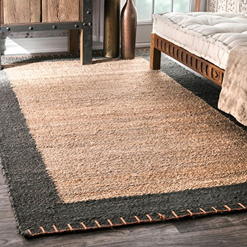 nuLOOM NCNT02A Handwoven Cameron Jute Rug, 7' 6