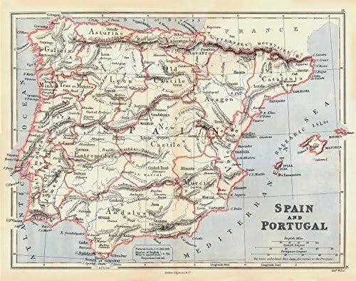Iberia. España y Portugal Mostrando Provincias. Butler – 1888 ...