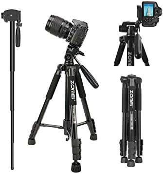 "Zomei 58"" Portable Travel Lightweight Aluminum Camera Tripod"