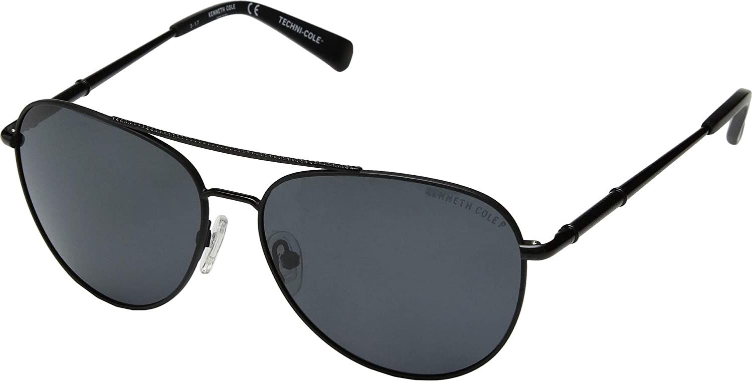 af258ad6f5 Kenneth Cole New York Techni-Cole Black Aviator Sunglasses at Amazon  Women s Clothing store