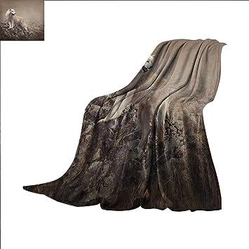 Amazon.com: Manta pequeña con diseño de caballito de mar y ...