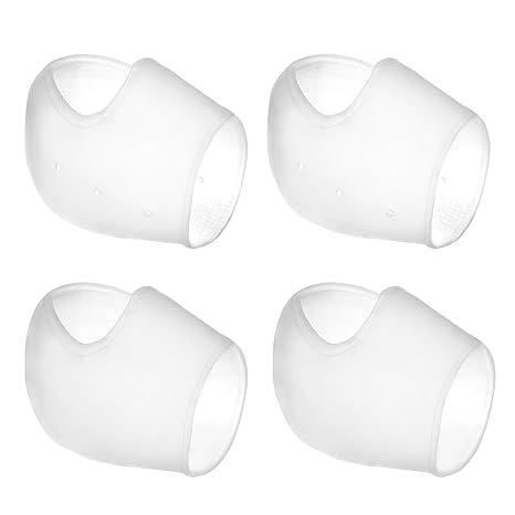 2 Pares Calcetines de Gel Silicona Calcetines Protector de Salón para Cuidado de Piel de Pies, Reducir Presión en Talón y Aliviar Dolor de Talón, 4 ...
