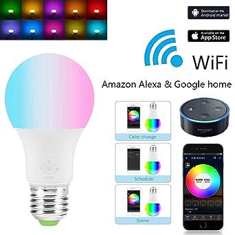 Alexa Beleuchtung   Intelligente Led Gluhbirne Kompatibel Alexa Google Home Wifi Licht
