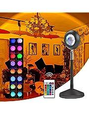 Obrót o 180 stopni zachód słońca lampa projekcyjna LED światło pomocnicze tiktok, sieć czerwone światło z USB SelfieLED, romantyczna wizualna nastrojowa lampa oświetleniowa, do salonu sypialni dekoracja