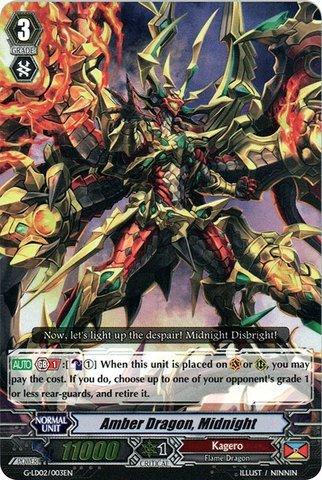 (Cardfight!! Vanguard TCG - Amber Dragon, Midnight (G-LD02/003EN) - G Legend Deck 2: The Overlord blaze