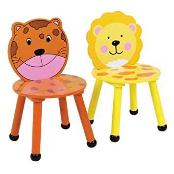 Bois Safarijungle Chaises Enfant Jeu Lot 2 Bentley Motif Kids De Pour Chambresalle derCxBo