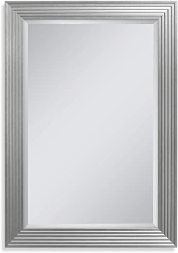 Head West Silver Fluted Gallery, 29-1 41-1 2 inches Wall Mirror