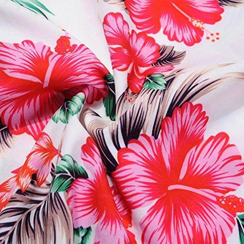 Robe Soire Robe Robe Audrey Anne Vintage Rockabilly sans Rose Femmes 50 Manches d't Rtro imprim Floral 1950's Hepburn Cocktail de wqZIYpZ