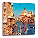 3dRose Venice Italy Wall Clock, 10 by 10-Inch For Sale
