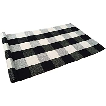 Amazon Com Custom Checkered Area Rugs Carpet Black White