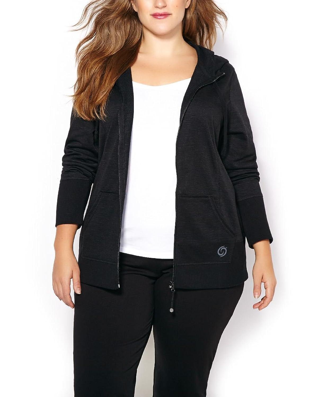5b04e669fe434 Penningtons Womens Plus Size ActiveZone Basic Hooded Plus-Size Jacket chic