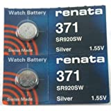 #371 Renata Watch Batteries 2Pcs